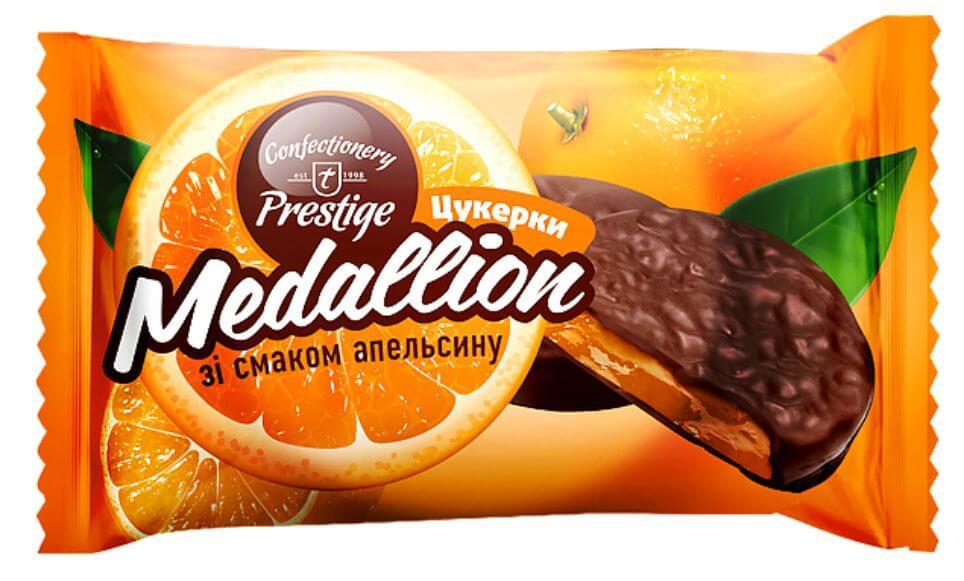Конфеты «Medallion» со вкусом апельсина фото 1
