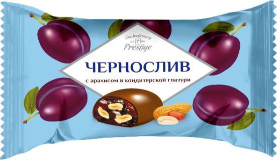 Конфеты «Чернослив с арахисом» в кондитерской глазури фото 1