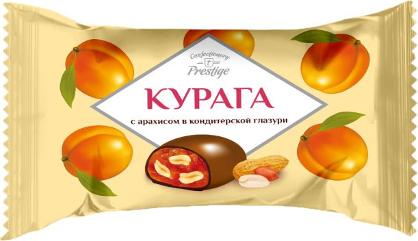 """Candies """"Dried apricots with peanuts"""" in confectionery coating фото 1"""