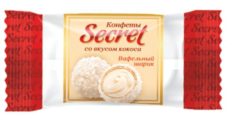 """Цукерки """"Секрет"""" зі смаком кокосу фото 1"""