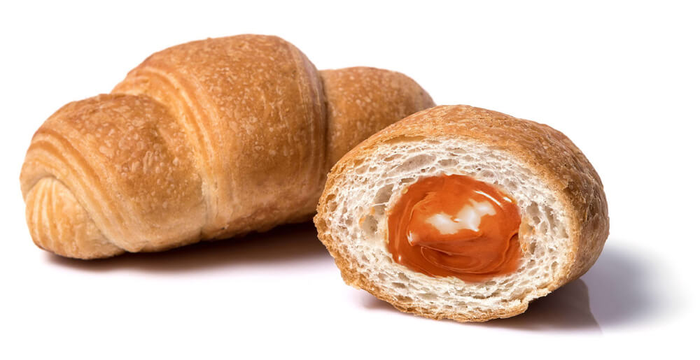 Croissant with caramel filling фото 2
