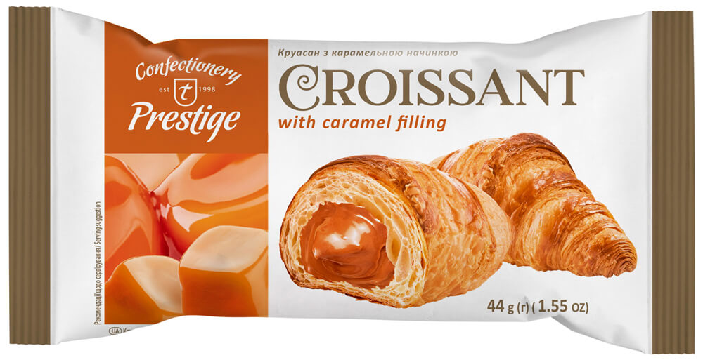Croissant with caramel filling фото 1