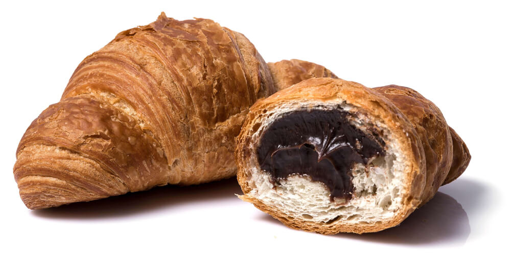 Croissant with chocolate flavored filling фото 2