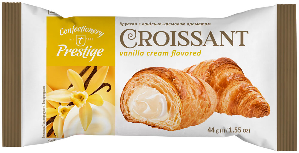 Croissant with vanilla cream flavored filling фото 1