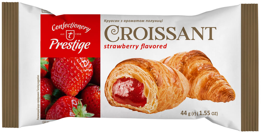 Croissant with strawberry flavored filling фото 1
