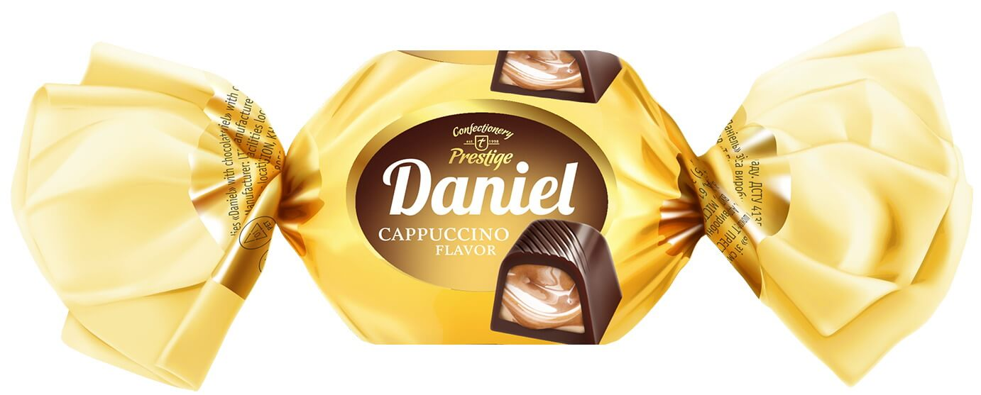 "Chocolate candies ""Daniel"" with cappuccino flavor фото 1"
