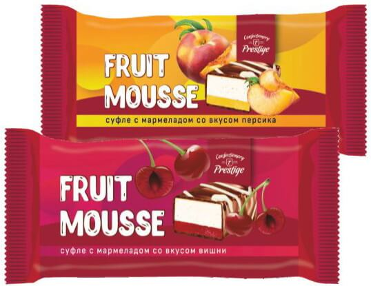 "Candies ""Fruit mousse"" souffle assorti with peach and cherry flavored marmalade фото 1"