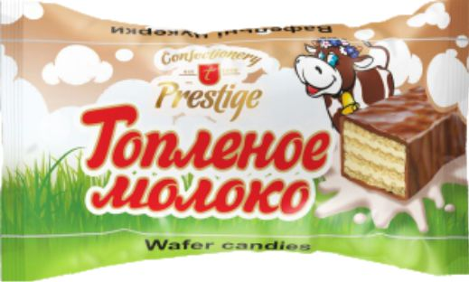 "Wafer candies ""T PRESTIGE"" with baked milk flavor фото 1"