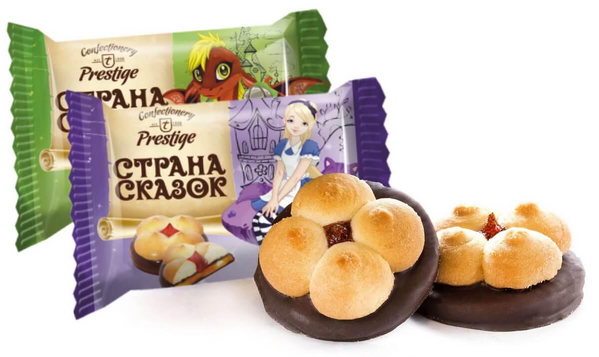"""Печенье сдобное с мармеладным корпусом """"Страна сказок"""" фото 1"""