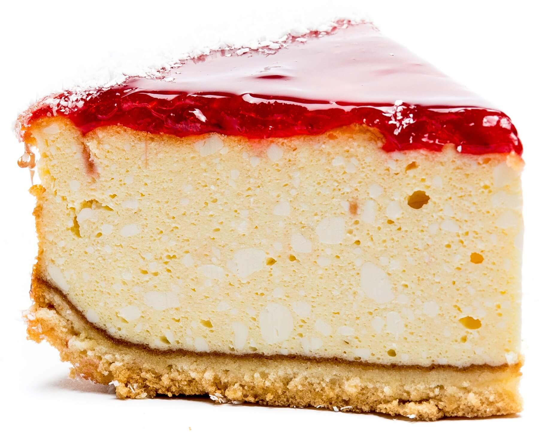 Пирожное бисквитно-творожное «Чизкейк с кусочками малины» фото 1
