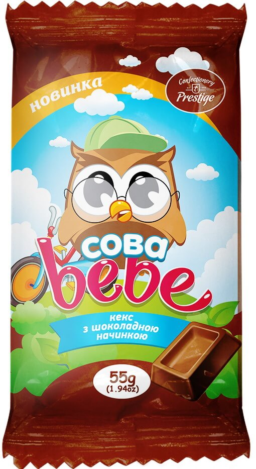Кекс «Сова Биби» с шоколадной начинкой фото 1