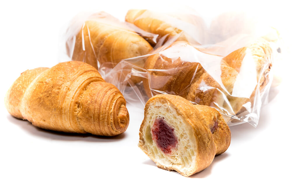 Mini croissant with fruit filling and cherry flavor фото 1