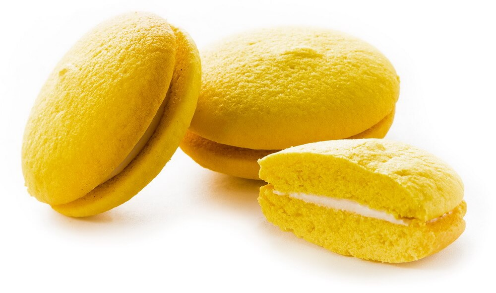 "Cookies ""Lemon"" with baked milk flavor filling фото 1"