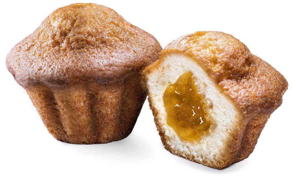 Muffin with peach flavored fruit filling фото 1