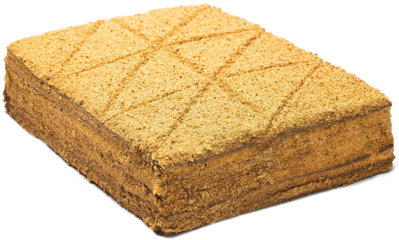 Торт медовый «Медовик со сгущённым молоком» (нарезной) фото 1