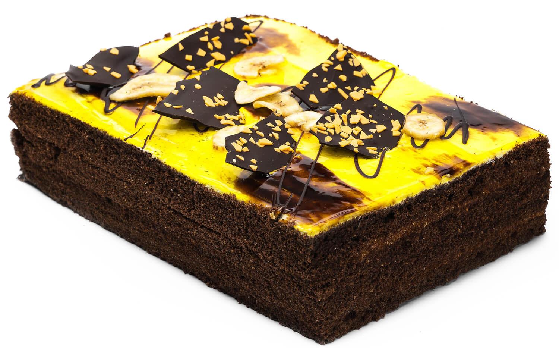 Торт бисквитный «Шоколадно-банановый» фото 1